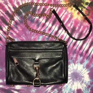Rebecca Minkoff Mini MAC Leather Rose Gold